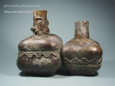 Antique Chinese Bronze Dual-Melon Style Vase, with Mark