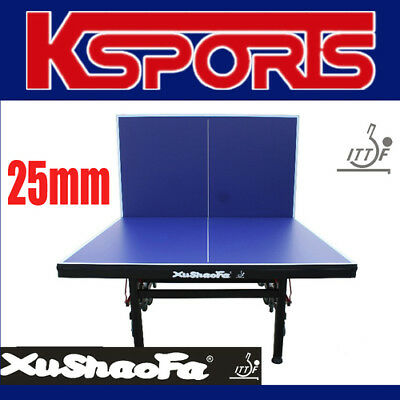 ITTF APPROVED 25mm XuShaoFa Championship Table Tennis Ping Pong Table INCLUDES N