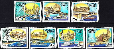 Hungary 1985 Danube Bridges and Ships Complete Set MNH