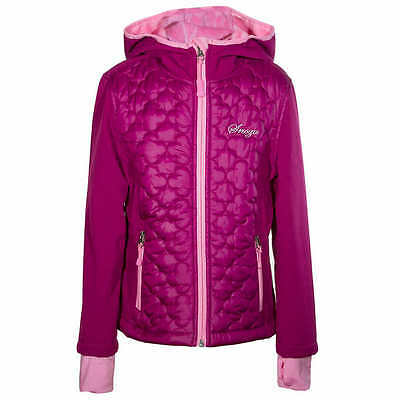 NEW SNOZU Girls' Fleece Lined Hooded Softshell Jacket Berry M 10/12