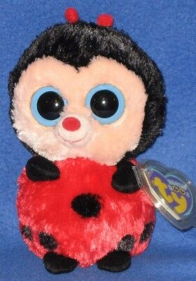"""TY BEANIE BOOS - BUGSY the 6"""" LADYBUG - MINT with MINT TAG"""