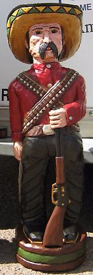 Frank Gallagher 4' 5' 6' Cigar Store Indian Sculpture Red Shirt Bandito w/Rifle