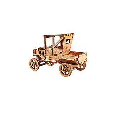 Wooden Model Kit Ford T Type Truck 3D Woodcraft Construction Puzzle
