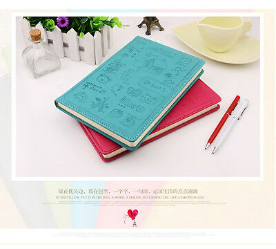 Free Shipping! Korean Fresh Color PU Hardcover Lined Notebook Diary Book Journal