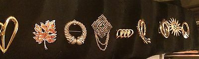 Lot Of Vintage 9 Brooches