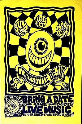CLARKSVILLE BE-IN, AUSTIN - SPRING JAM1990 - PSYCHEDELIC JASON AUSTIN Poster