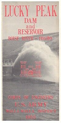 1955 Brochure Lucky Peak Dam and Reservoir, Boise River Idaho Corps Of Engineers