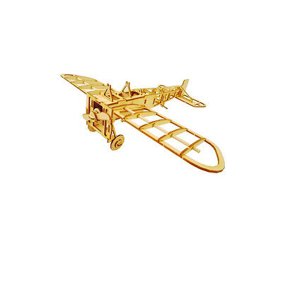 Wooden Model Kit Bleriot Aircraft Airplane 3D Woodcraft Construction Puzzle