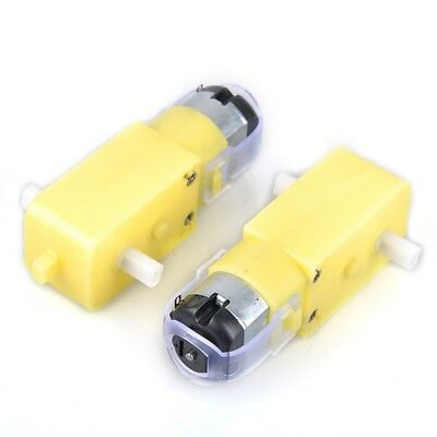 2pcs/lot 1:48 Plastic DC Drive Gear Motor Gearbox for Arduino Chassis Smart Car