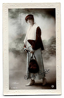 Cpa A84 Embossed Gladys Cooper Artiste Theatre Edwardian Fashion British Beauty