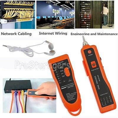 Telephone/Phone Network Cable Tester RJ45 RJ11 Wire Line LAN Cable Tracker Toner