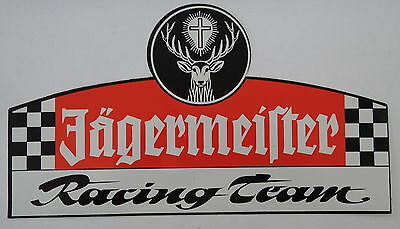Aufkleber JÄGERMEISTER RACING TEAM Motorsport Oldtimer Youngtimer 80er Sticker