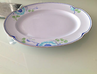 Grays Pottery Susie Cooper Art Deco Greydawn plate 1930's blue Hand Painted