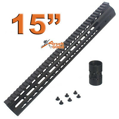 "CNC 15"" KeyMod Rail Handguard for Marui std G&P M SR series  APS ASR Airsoft AEG"