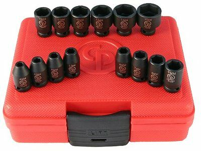 Chicago Pneumatic SS2114 1/4inDrive 14pc Metric Impact Socket Set, New
