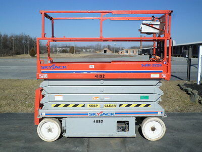 Skyjack Sjiii3226 26' Electric Slab Scissor Lift Manlift 26Ft Platform Lift