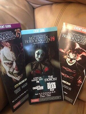 3 Halloween Horror Nights  HHN Event  Map Guide CHANCE  & JACK NEW # 25 & 26