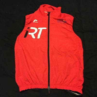 Men's Pactimo iRT Lightweight Evergreen Cycling Wind Vest, Red, Size Small EUC