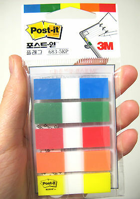 ×5 3M Post-it Flag 683-5KP bookmark point Sticky Note plastic paper