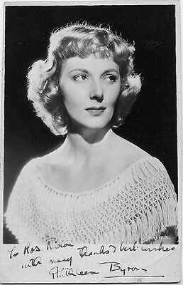 Kathleen Byron  Actress  Black Narcissus Powell & Pressburger Signed Photograph