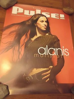 ALANIS MORISSETTE 2002 TOWER RECORDS PULSE PROMO POSTER 18x24