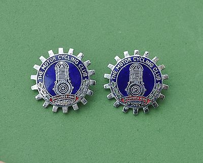 The Motorcycling club pin badges x 2  Motorcycle / Motor  Bike  collectibles