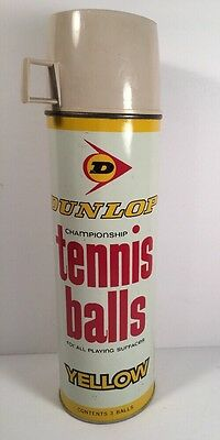 "Vintage Advertising Dunlop Tennis Balls Thermos King-Seeley 13 1/4"" Tall Cup Lid"