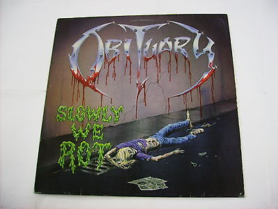 Obituary - Slowly We Rot - Lp Vinyl 1989 Holland Excellent Condition