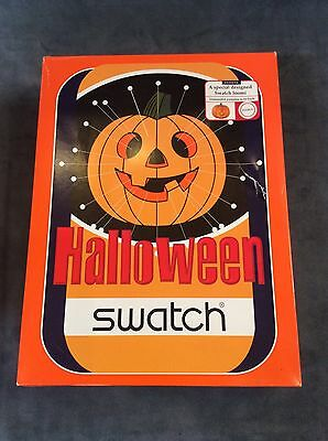 Swatch 1998 Halloween Watch Loomi Construct Your Own Pumpkin In Box