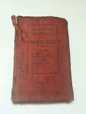 Operation Manual for the Morris Eight series II, 1937