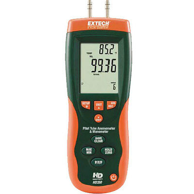 Extech HD350 Pitot tube and anemometer diff manometer