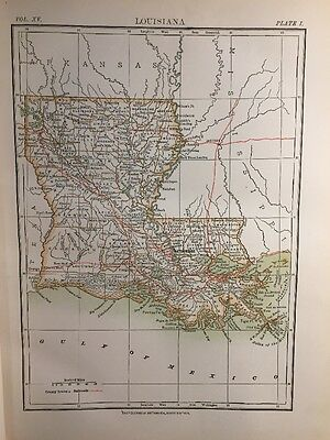 Article & Map: Louisiana, U.S.A. By Henry Gannett 1883. United States America