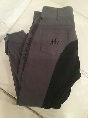 HV Polo ladies grey and black breeches size 40 approx UK 12