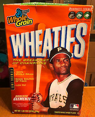 Unopened Roberto Clemente 2004 Commemorative Wheaties Cereal Box - Rare!