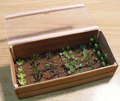 1:12 Scale Wooden Cold Frame Dolls House Miniature Garden Accessory B1