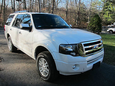 2011 Ford Expedition Limited Sport Utility 4-Door FORD EXPEDITION LIMITED 2011 WHITE REPAIRABLE DAMAGE SALVAGE AWD NAV CAMERA