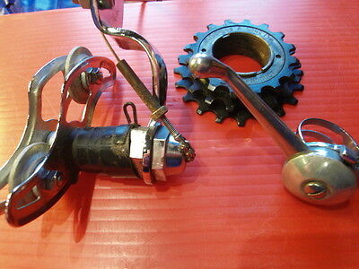 "Vintage Resilion rear mech/lever/cable with suitable 1/8"" 3-speed block. All NOS"