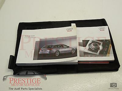 Audi A6 C6 Avant Handbook Manual Pack with Leather Wallet