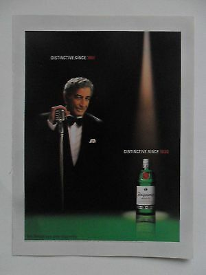 2002 Print Ad Tanqueray Gin Distilled English ~ Tony Bennett Distinctive