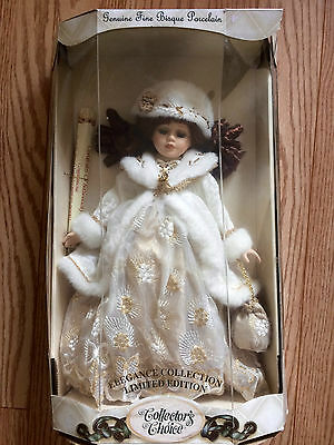Collector's Choice Limited Edition Genuine Fine Bisque Porcelain Doll w Box