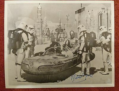 Sir Alec Guinness and Mark Hamill STAR WARS genuine Signed 10x8 photo with COA