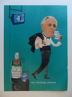 1994 Print Ad Tanqueray Gin Distilled English ~ Mr. Jenkins Waiter TV