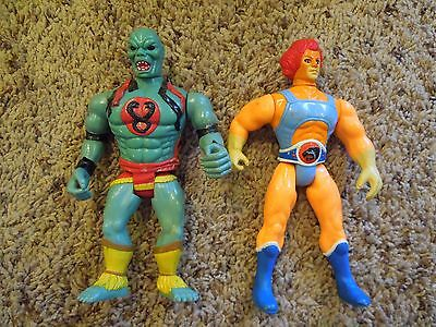 Vintage 1985 Lot of 2 Thundercats Action Figures Lion O Panthro Large
