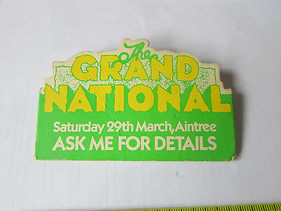 Original the GRAND National STAFF Horse Racing Badge 29 March Possibly 1980