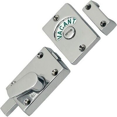 Polished Chrome Bathroom Toilet Lock Indicator Bolt Vacant and Engaged By Dale