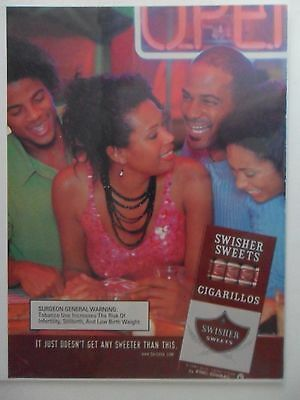 2002 Print Ad Swisher Sweets Little Cigars ~ Fun at the Club African American