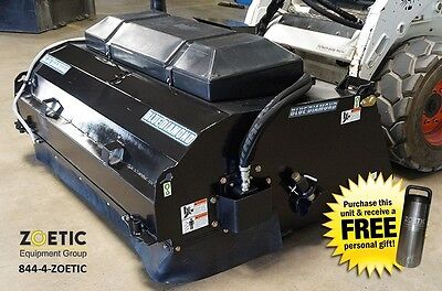 """Blue Diamond Poly Steel Pick-Up Broom Skid Steer Attachment, 96"""" wide"""