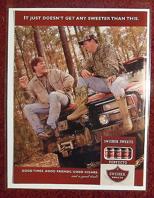 1999 Print Ad Swisher Sweets Little Cigars ~ Hunting Buddies Good Times Friends