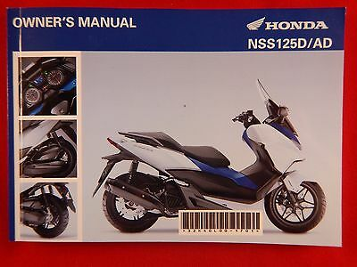 Genuine 2015 Honda Nss125 Forza Owners Manual Nss 125 32K40L00 2016