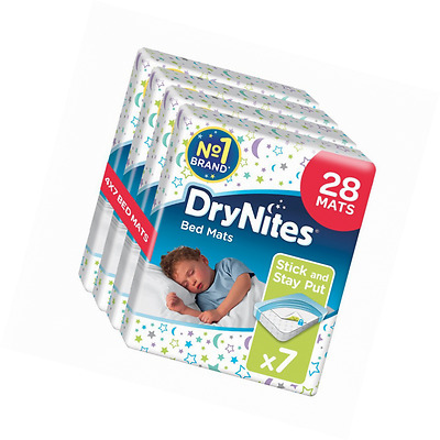 Huggies DryNites Disposable Bed Mats Mattress Protector x 28 Baby Toddler Kids